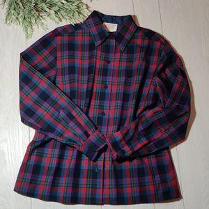 Pendleton wool plaid button shirt